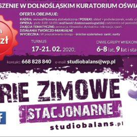 FERIE ZIMOWE – ruszyły ZAPISY !!!